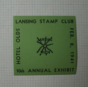 Lansings Stamp Club MI 1941 Annual Expo Event Souvenir Ad