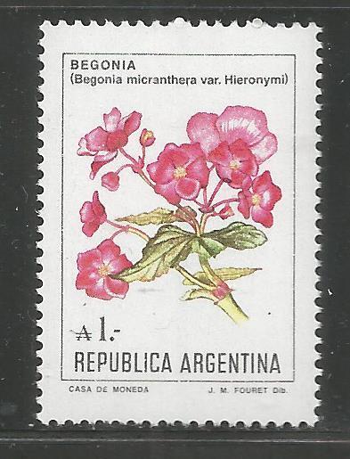 ARGENTINA   1524 MNH BEGONIA,  FLOWERS