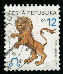 2001, Signs of the Zodiac: Leo, 12 Kc, Czech Republic (T-9624)