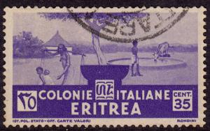 Eritrea - 1934 - Scott #163 - used - Pastoral Scene