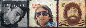 Croatia 2020. Popular Musicians (MNH OG) Set of 3 stamps