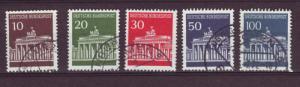 J453 jl,s stamps 1966 germany use set5, scn 952-6