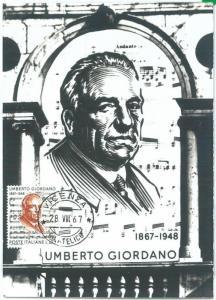 68943 -  ITALY - POSTAL HISTORY - MAXIMUM CARD - MUSICA Giordano  1967