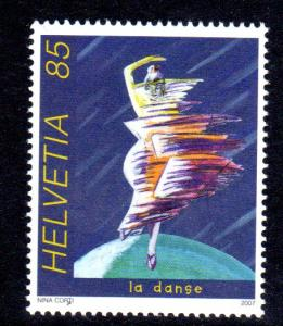 Switzerland #1277 La Danse 2007 by Nina Corti, MNH
