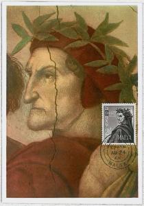 MAXIMUM CARD - MALTA : Dante Alighieri LITTERATUTE - 1965 #2