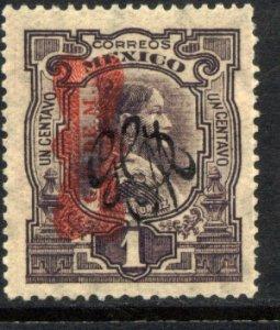 MEXICO 540, 1¢ Corbata & Carranza Rev overprints UNUSED, H OG. VF.