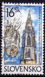 Slovakia. 1997. 275. Church. USED.