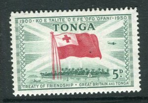 TONGA; 1951 early Treaty issue fine Mint hinged 5d. value