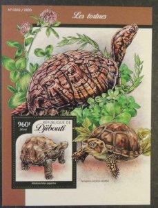 Djibouti 2016 turtles reptiles tortoise s/sheet mnh