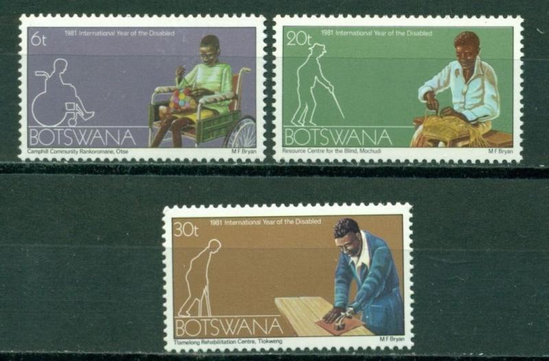 Botswana Scott 274-276 MNH Int'l Year of the Disabled $$