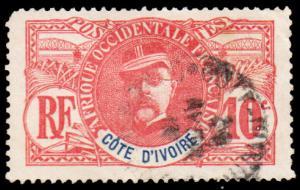 Ivory Coast Scott 25 Used with corner rounded.