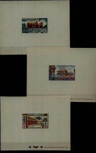 Dahomey 137,C14-15, 3 MNH epruve sheets Houses