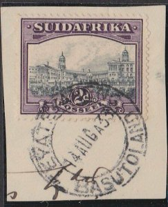 BASUTOLAND 1933 Sth Africa 2d on piece used at TEYATEYANENG.................N387