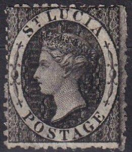 St Lucia #7 F-VF Used CV $14.00 (Z2474)