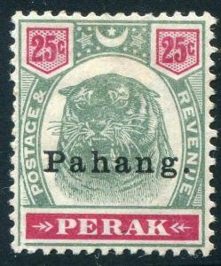 HERRICKSTAMP MALAYA: PAHANG Sc.# 17 1898 Tiger VF Hinged