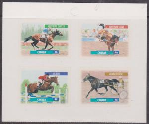 Canada - 1999 Canadian Horses Mint Block of 4 Ex. Booklet  #1798a