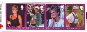Isle of Man Sc 793 1998 Princess Diana stamp set used