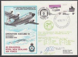 NEW ZEALAND ANTARCTIC 1978 RNZAF signed flight cover ex Scott Base..........A800
