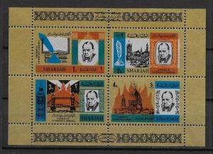 Sharjah Michel Block16A Winston Churchill s.s. MNH
