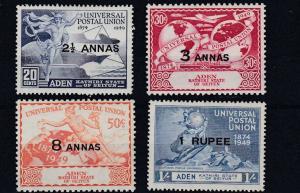 ADEN  KATHIRI  1949  S G 16 - 19    UPU SET     MNH