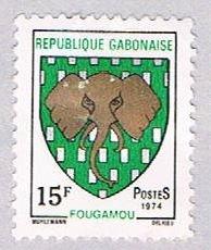 Gabon Coat of arms 15f - pickastamp (AP103307)