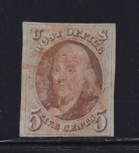 1 VF+ used neat red cancel with nice color cv $ 400 ! see pic !