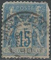 France 92 or 103 (used, Carcassonne cancel) 15c commerce