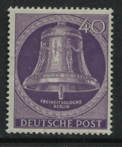 Germany Berlin Bell clapper at center 40 pf mint o.g. hinged