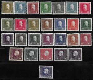 Austria M22-48 Franz Josef Military Stamps set MNH (z1) (BB)