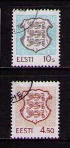 ESTONIA Sc# 339 - 340 USED FVF Set2 Coat of Arms