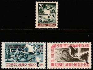 MEXICO 890, C227-C228, Second Pan American Games. MINT, NH (60)