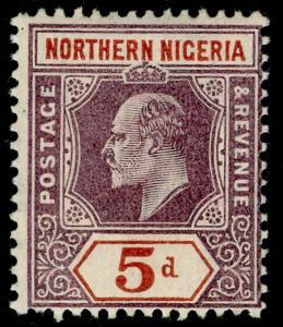 NORTHERN NIGERIA SG24, 5d dull purple & chestnut, LH MINT. Cat £32.