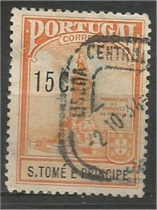 ST. THOMAS AND PRINCE, 1925, used 15c,  Kingstown Scott RA3