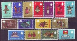 J22105 Jlstamps 1965 gilbert & ellice set mh #89-103 people designs
