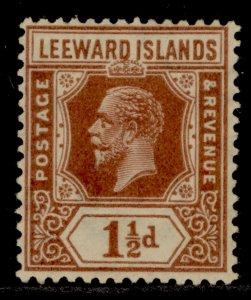 LEEWARD ISLANDS SG64, 1½d red-brown, M MINT.