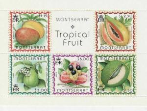 Montserrat - Fruit -  Sheet of 5 Stamps  - 988a