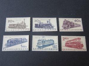 Czech Republic 1966 Sc 1574-9 Train set MNH