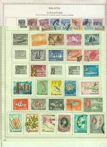 SINGAPORE MINKUS ALBUM PAGE MINT/USED VALUES