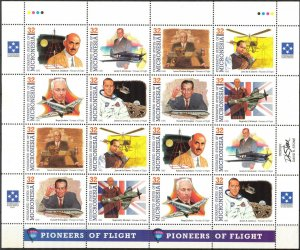 Micronesia 1995 Aviation Space Pioneers of Flight ( V set ) Sheet 2 sets MNH