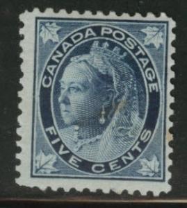 CANADA Scott 70 MH* 1897 5c Victoria CV$150 Tone spots