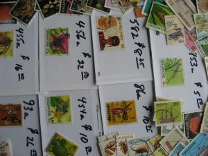 Singapore 50 different stamps plus $100 catalogue value of high values too!