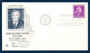 UNITED STATES FDC 3¢ Harlan Stone 1948 ArtCraft