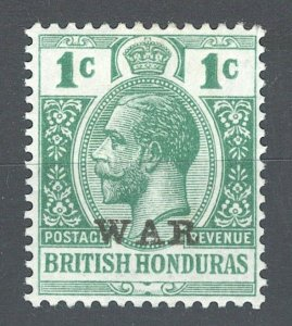 British Honduras SC#MR1 George V 3c War Tax (1916) MH