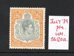 BERMUDA GEORGE VI SG120a July 39 superb MNH condition,verified.