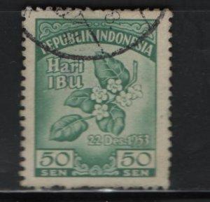 Indonesia 401, Used, 1953 Melati Flower