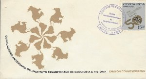 Costa Rica Pan-American Geography & History Institute, Emblem, Sc C712 FDC 1978