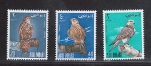 Abu Dhabi #12 - #14 Very Fine Never Hinged Bird Set