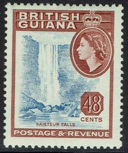 BRITISH GUIANA 1954 QEII FALLS 48C DLR PRINTING MNH ** WMK MULTI SCRIPT CA