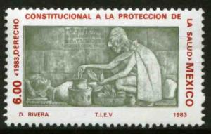 MEXICO 1313, Constitutional Right Health Protection MINT, NH. F-VF.