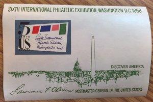 US #1311 MNH Souvenir Sheet SIPEX - Sixth International Philatelic Exhibition